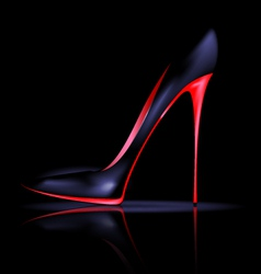 dark shoe vector image vector image