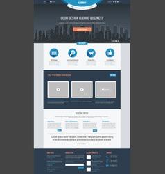 Flat Website Template vector image vector image
