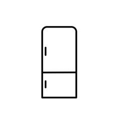 fridge icon vector image
