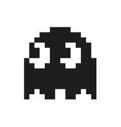 ghosts monster racing arcade retro game icon vector image