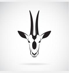 scimitar-horned oryx head design on white vector image
