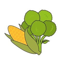 vegetable healthy food vector image