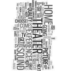 your home theater how to hookup text word cloud vector image vector image