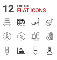 12 data icons vector