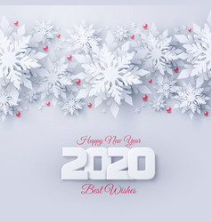 2020 happy new year and merry christmas vector image