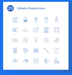 25 shadow icons vector