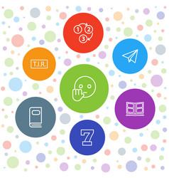 7 typography icons vector