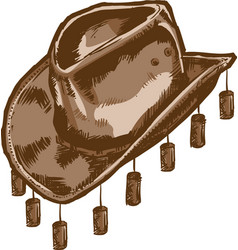 a cowboy or australian style hat vector image