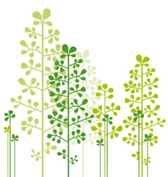 abstract green trees vector image vector image