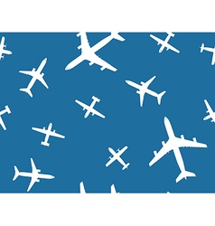 Airplanes pattern vector