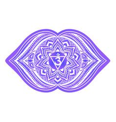 Ajna sixth chakra vector