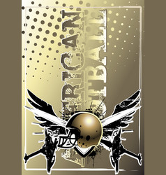 American football golden poster background vector