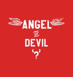 Angel or devil vector