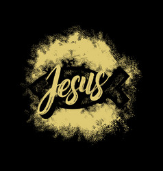 Bible lettering christian art jesus fish vector
