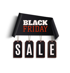 black friday background curved paper banner vector image