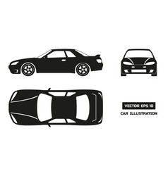 Black silhouette of the car on a white background vector