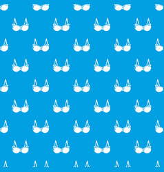 Brassiere wear pattern seamless blue vector