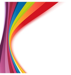Bright rainbow swoosh lines stripes abstract vector