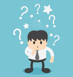 businessmen are confused and have question marks vector image