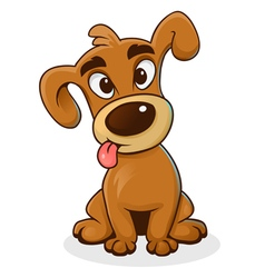 Cartoon funny dog vector