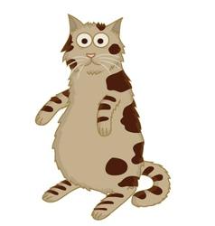 Cat standing cartoon vector