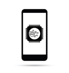 Cell mobile phone battery charging icon vector