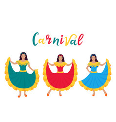 cinco de mayo 5th may carnival three young vector image