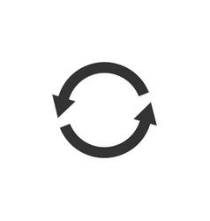 circle arrow icon flat vector image