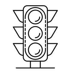 city traffic light icon outline style vector image