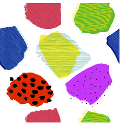 collage contemporary abstract berries seamless 80s vector image