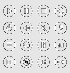 Collection of music icon isolated vector