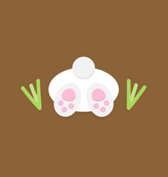 Cute easter bunny in ground vector