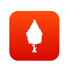 Cypress icon digital red vector