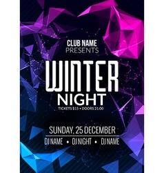 Dance party dj battle poster design winter disco vector