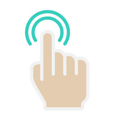 Double tap flat icon touch and hand gestures vector