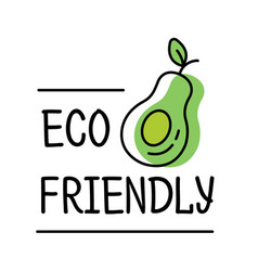 Eco friendly product label logo in line style vector