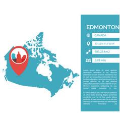 Edmonton map infographic vector