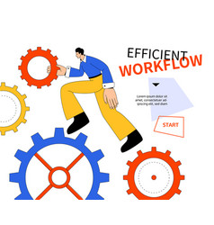 Efficient workflow - modern colorful flat design vector