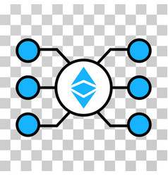Ethereum classic masternode links icon vector
