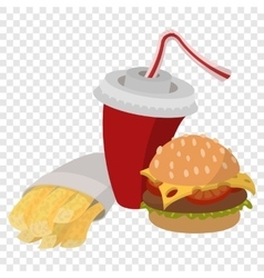 Fast food lunch vector