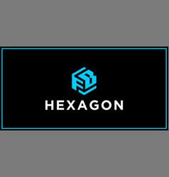 Fb hexagon logo design inspiration vector