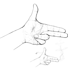 fingers shoot vector image