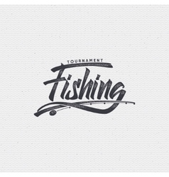 Fishing badges sign handmade differences made vector