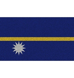 Flags Nauru on denim texture vector