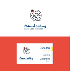 flat justice logo and visiting card template vector image