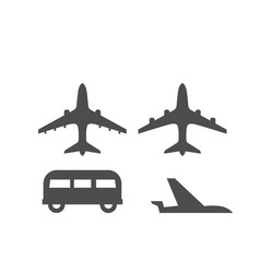 flat map signs of airplane in different positions vector image