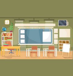 Flat of an empty classroom in vector
