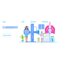 Fluorography concept tuberculosis vector