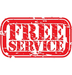 Free Service stamp vector