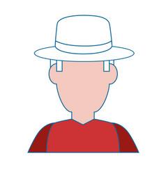 gardener farmer avatar vector image